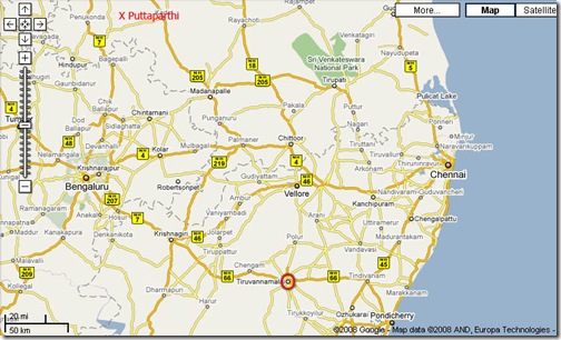 Puttaparthy map