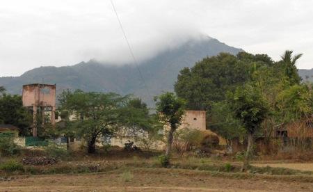 Arunachala from the village