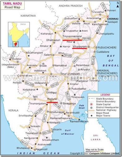 Madurai trip map