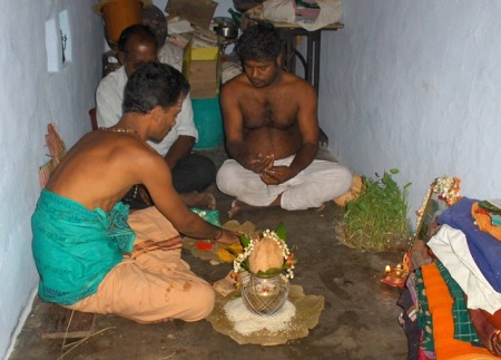 Mothers puja started