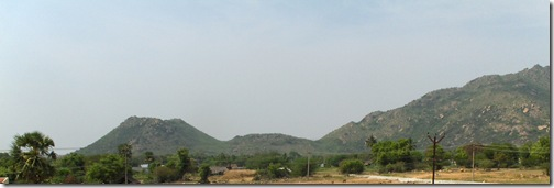 Parvati Hill end of Arunachala