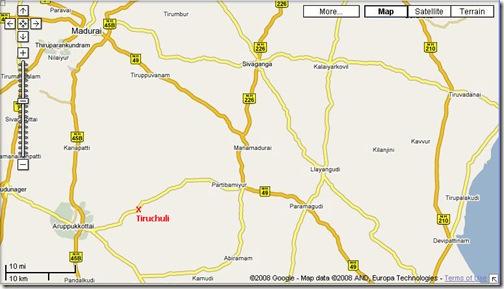 tiruchuli map