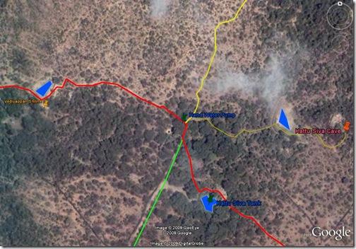 Path Across Arunachala start closeup
