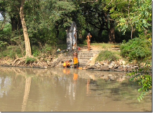 Sadhus washing at Sadhu tank