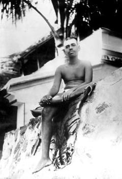 Ramana at Virupaksha Cave