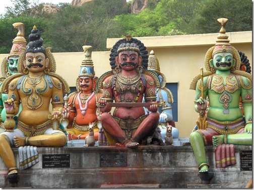 Guardians at Pachaiamann Temple