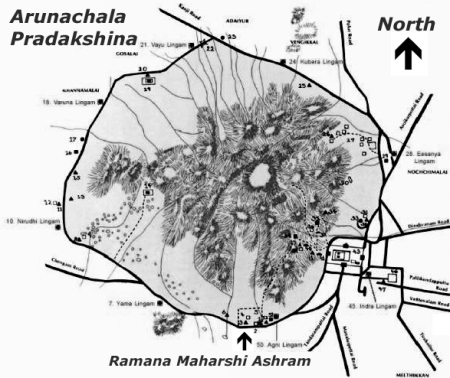 Pradakshina map