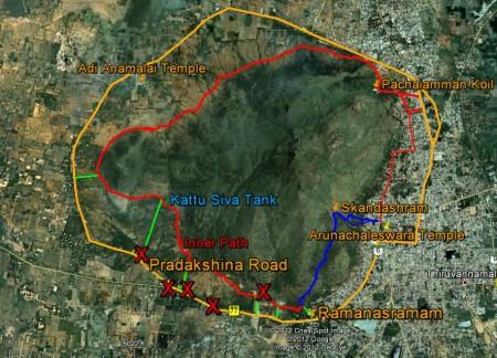Arunachala Pradakshina Routes
