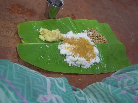 Christmas dinner at Ramanasramam