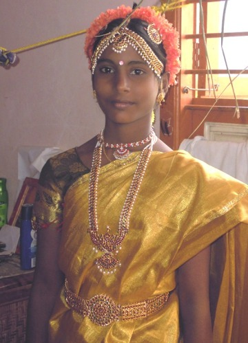 Dressing up during coming of age ceremony