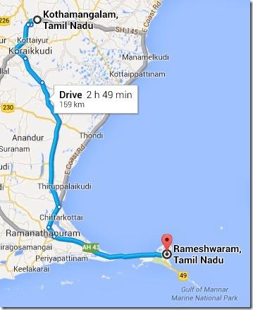Kumbakonam to Rameswaram