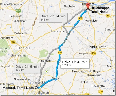 Madurai to Trichy
