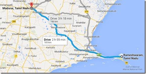 Ramaswaram to Madurai