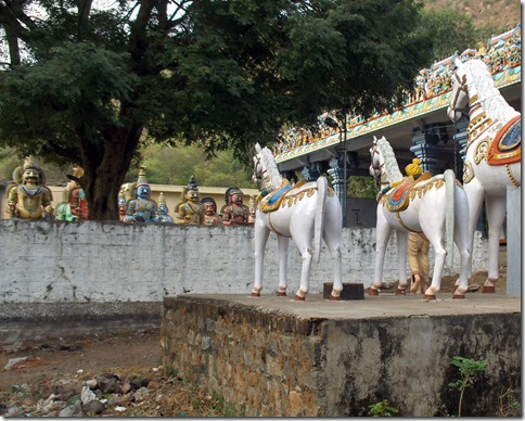 Horses and Warriors at Pachaiamann Koil