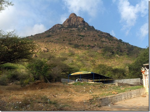 Peacock hill above Pachiaimann Koil