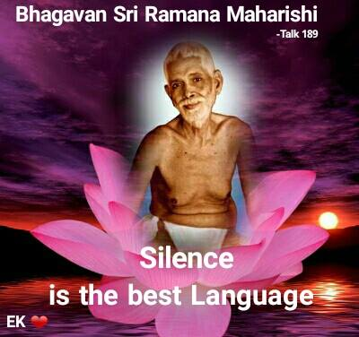Silence is the best language