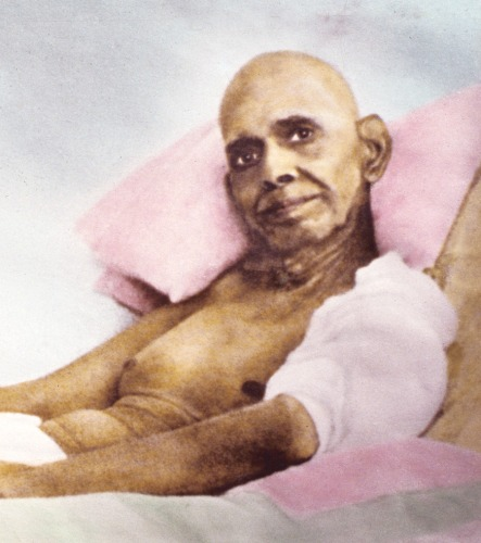 Ramana smiles on his deathbed